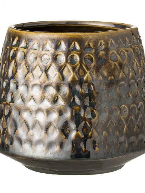 Bloomingville Bloempot metallic bruin