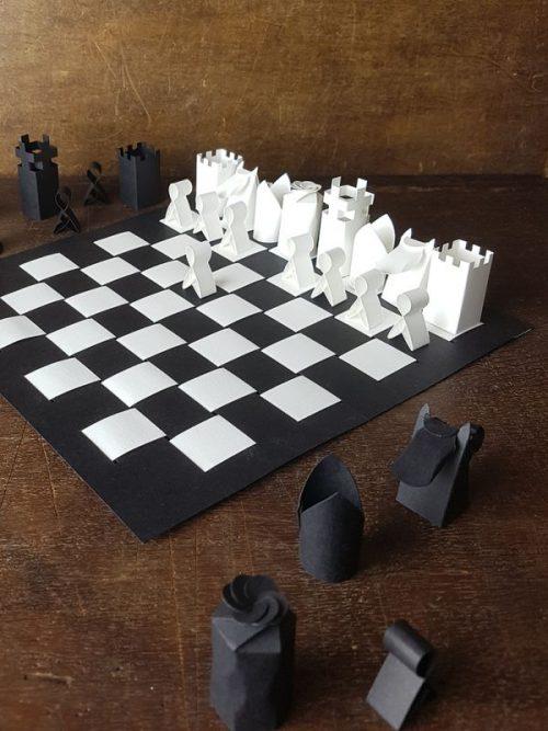 Piet Design Schaakspel papier vouwen origami