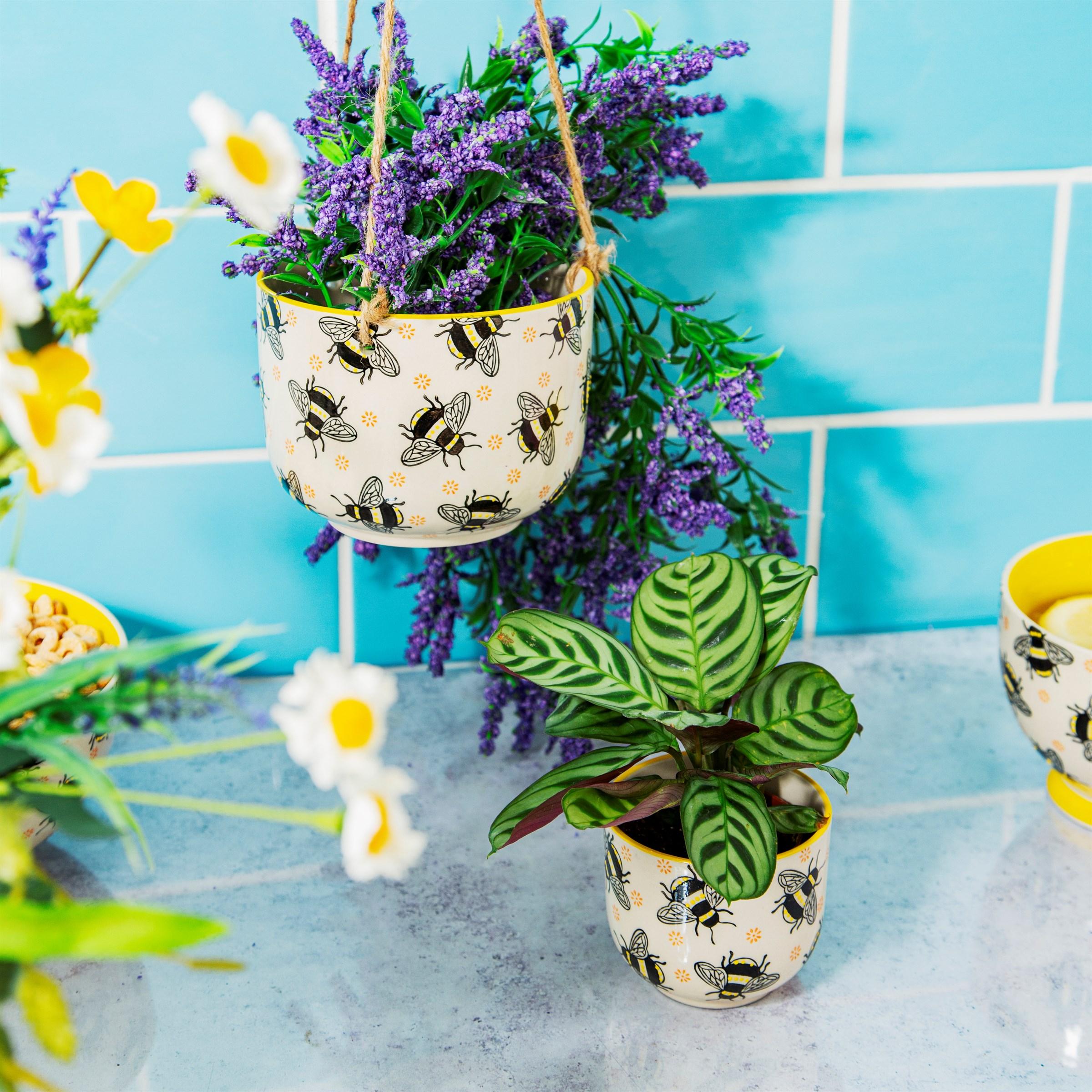 Sass Belle bloempot busy bees bijen mini planter