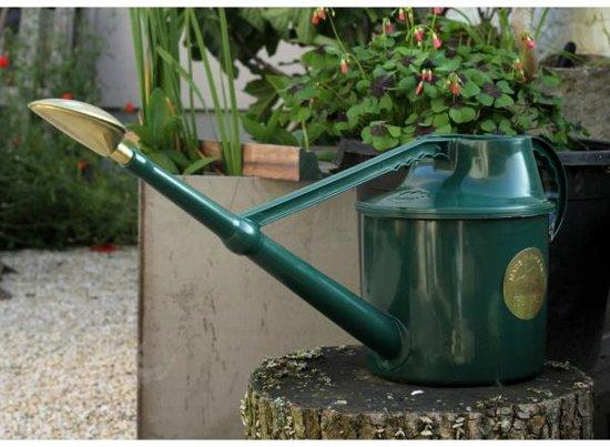 Haws Deluxe Cradley gieter 6.8 liter groen met koperen broes