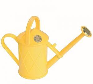 Haws gieter Heritage kunststof 1 liter met broes geel
