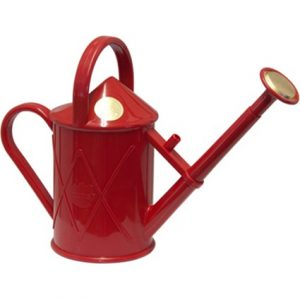 Haws gieter Heritage kunststof 1 liter met broes rood
