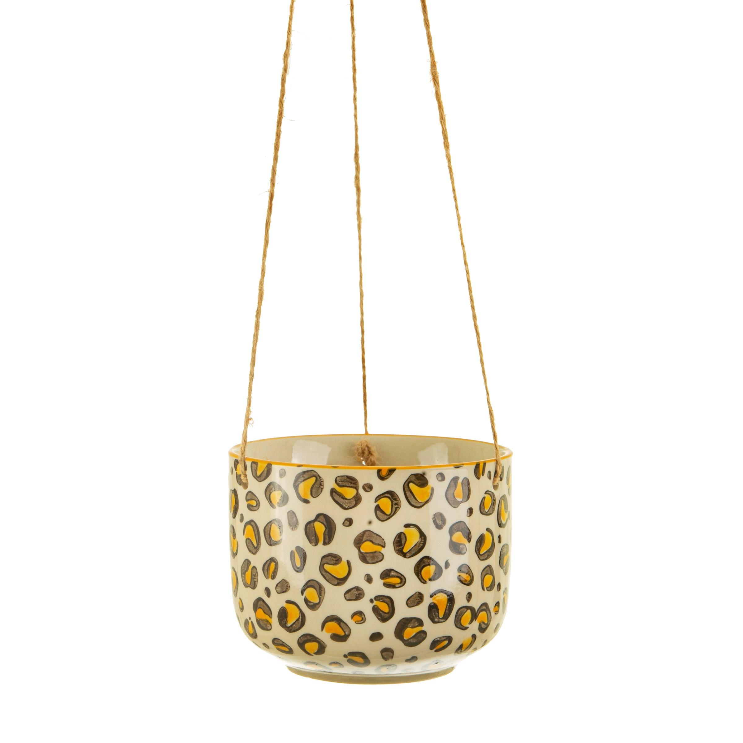 Sass & Belle Leopard Love hanging planter luipaard hangpot