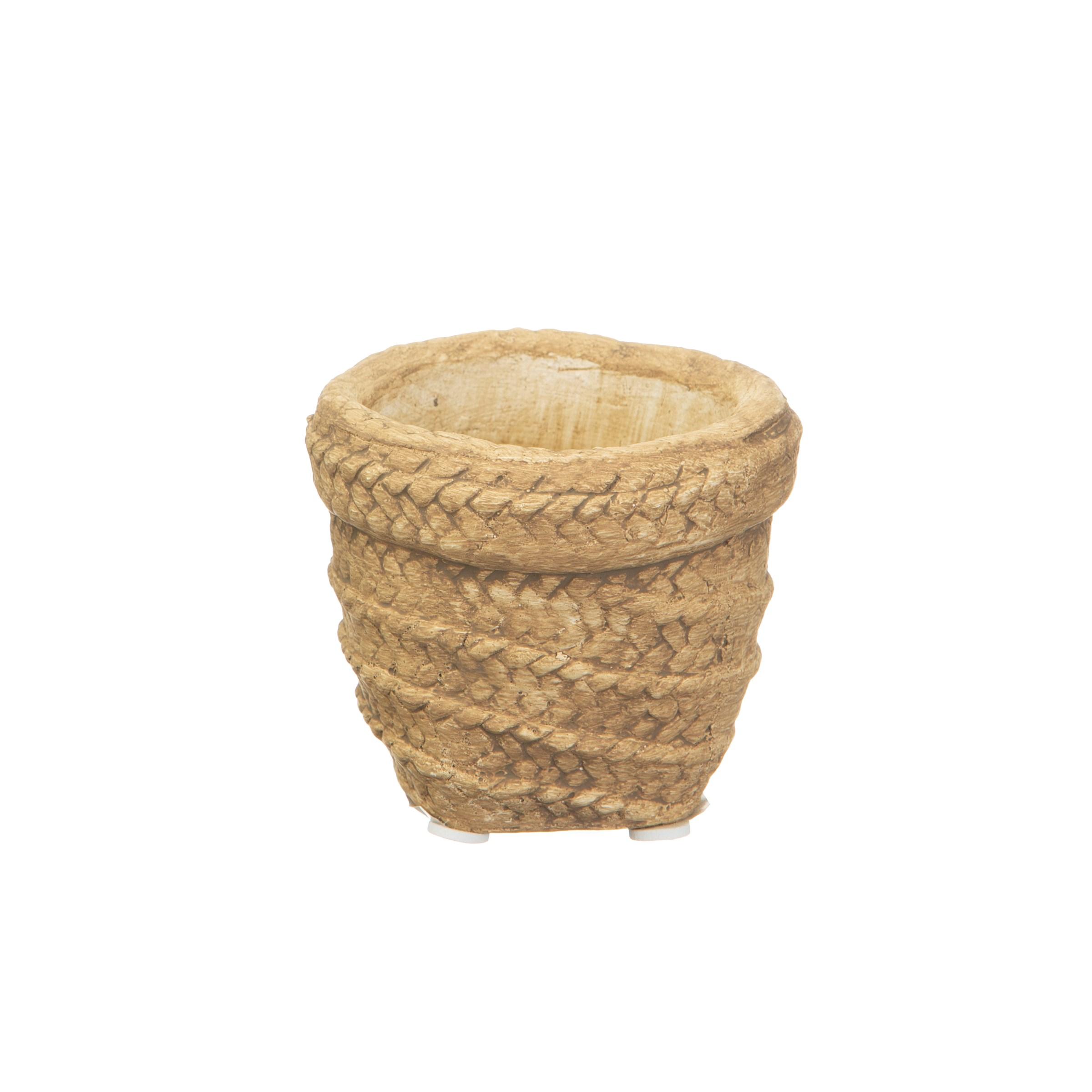 Sass Belle Bloempot Sierra cement basket planter klein