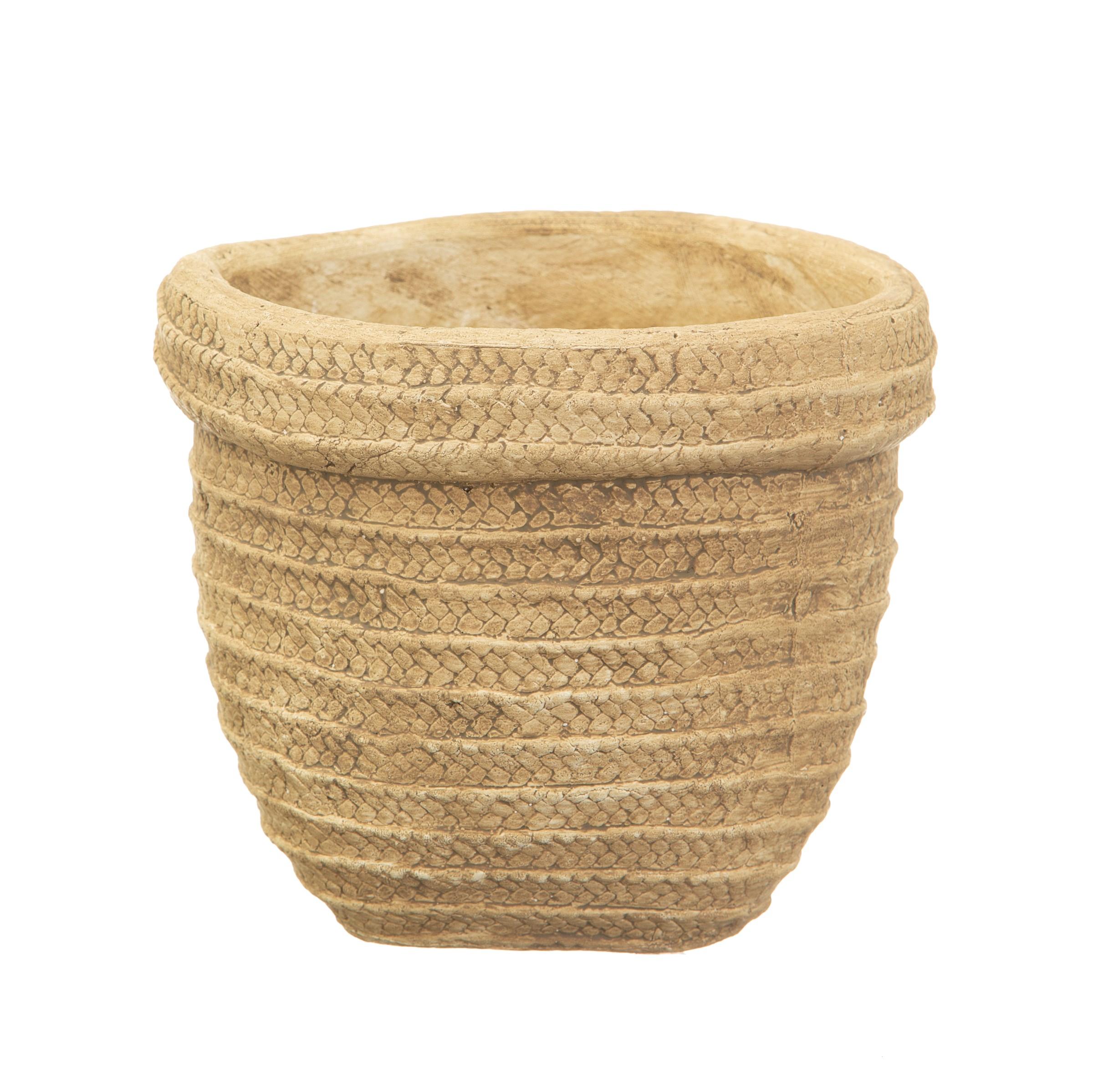 Sass Belle Bloempot Sierra cement basket planter