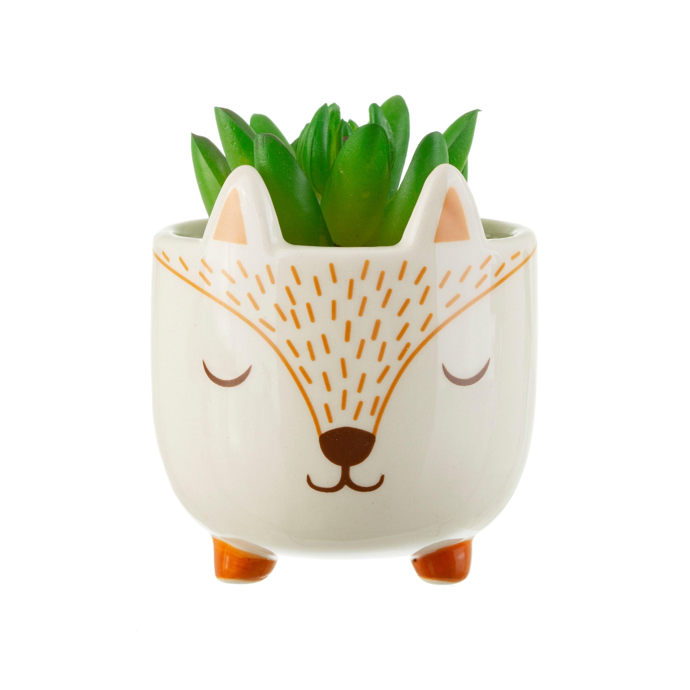 Sass Belle mini woodland Fox planter bloempot vosje