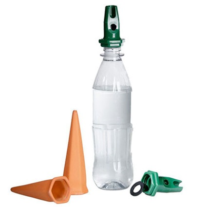 Druppelaar terracotta PET fles watergeefsysteem 4 stuks
