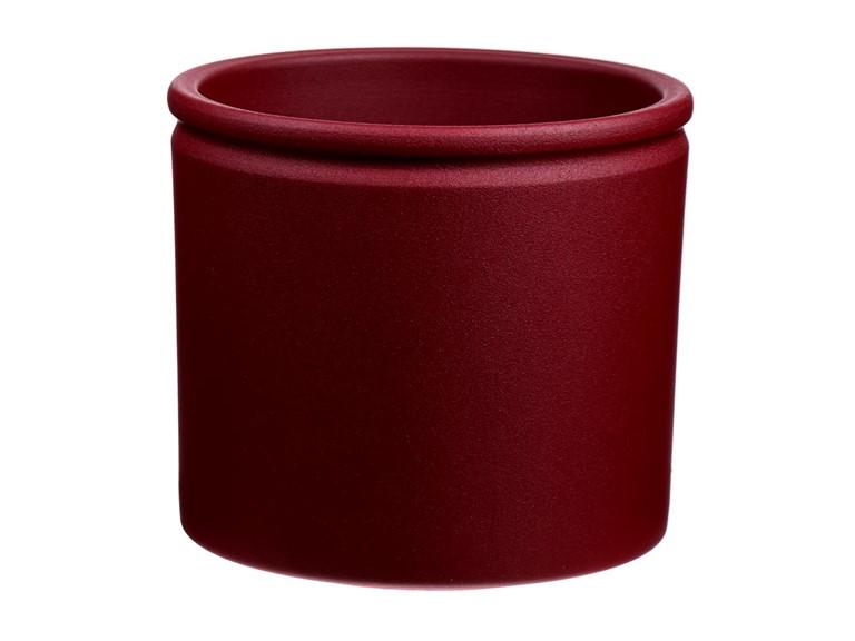 Bloempot-lucca-rood-structuur