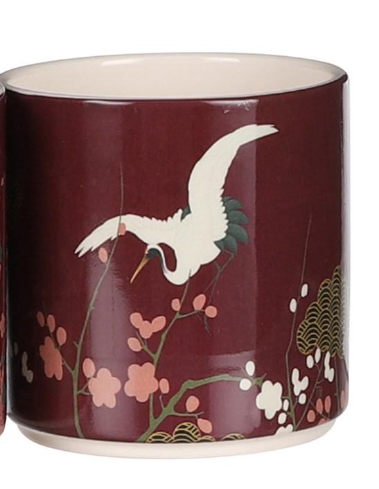 Bloempot-mica-rood-kraanvogel