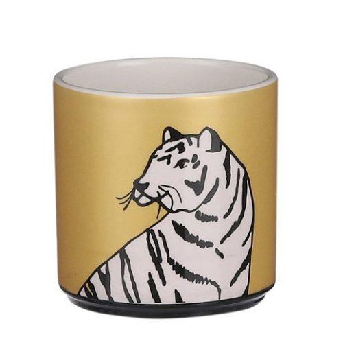 House-of-seasons-bloempot-goud-tijger