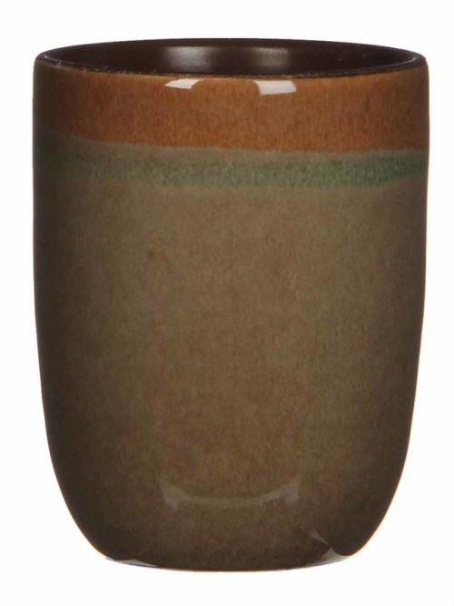 Todi-bloempot-mica-donkerbruin