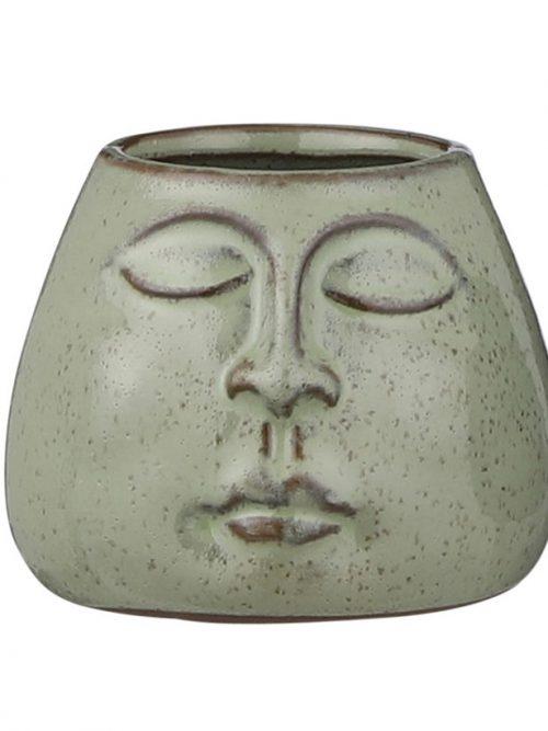 bloempot-mica-groen-gezicht