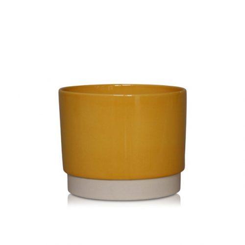 bloempot-eno-8x7.5-oker-geel