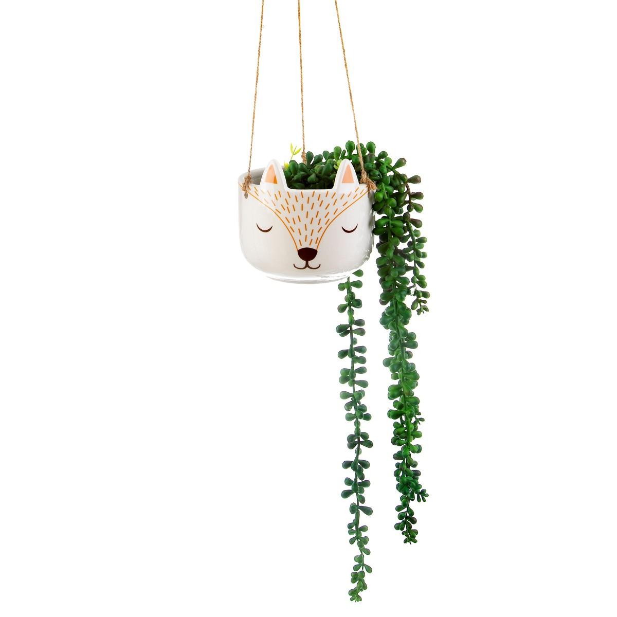 Plantenkamer-sass-belle-woodland-fox-hanging-planter