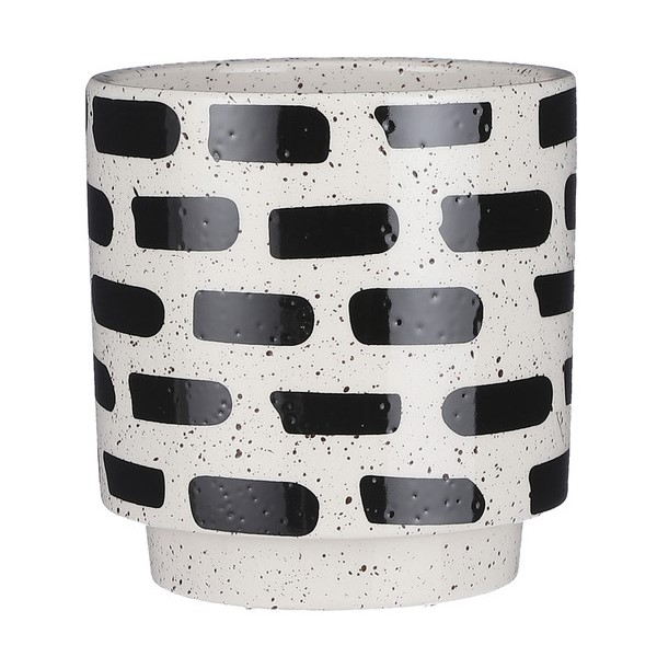 Plantenkamer-house-of-seasons-pot-rond-wit-zwart