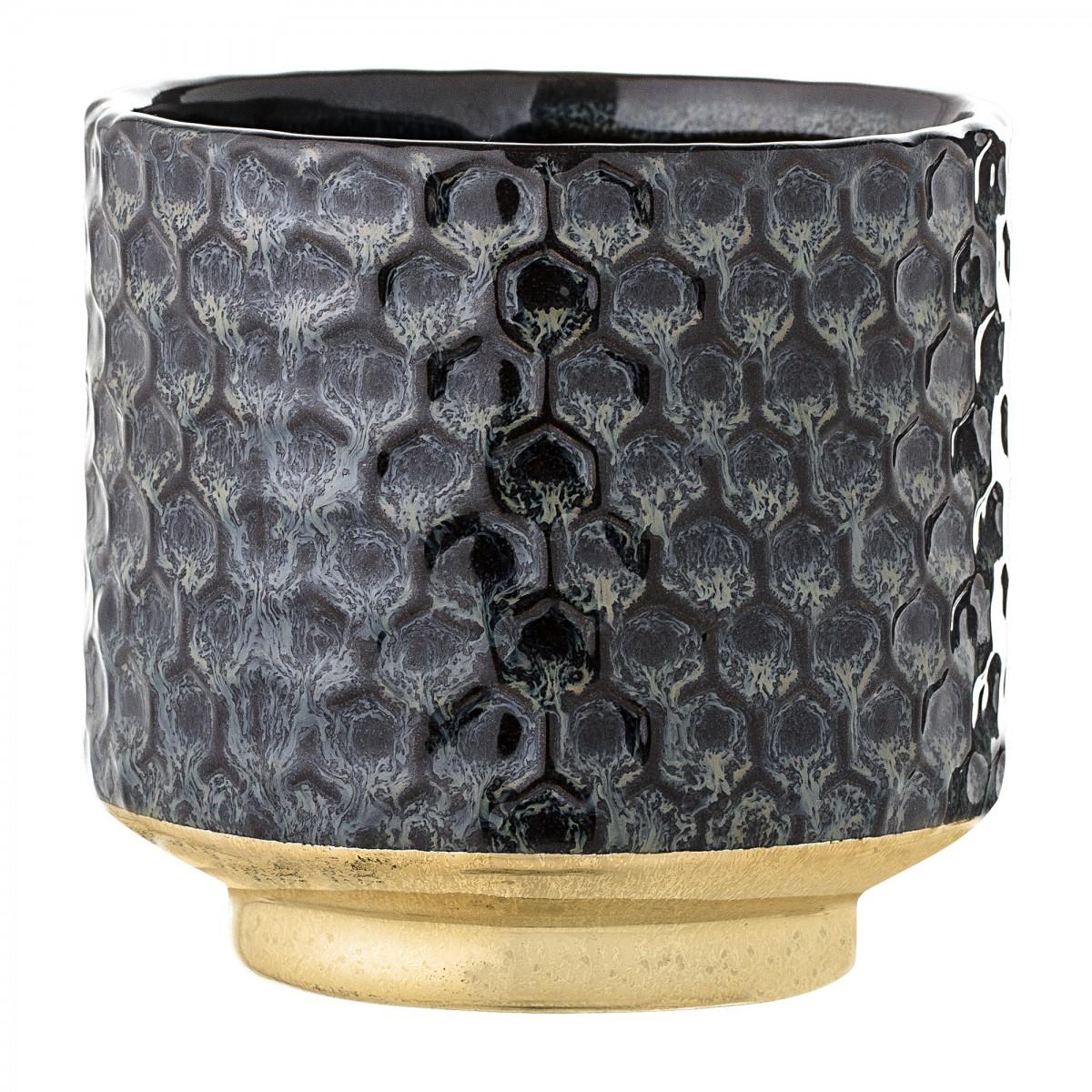 Plantenkamer-earl-bloempot-zwart