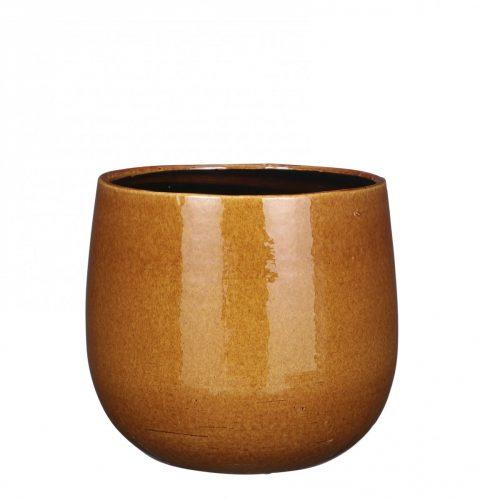 Plantenkamer-mica-decorations-pablo-pot-rond-oker