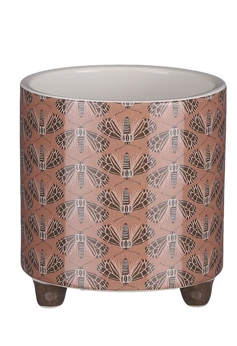 Plantenkamer-mica-decorations-pot-rond-bruin-petrol-oker