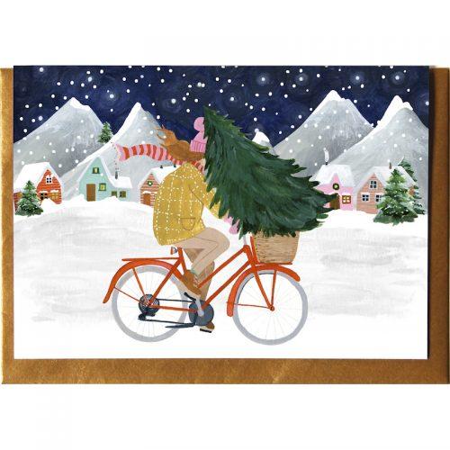 Plantenkamer-bicycle-kerst-kaart